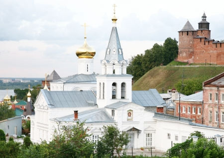 Church of Elijah the Prophet in the sunset Nizhny Novgorod Russia photo