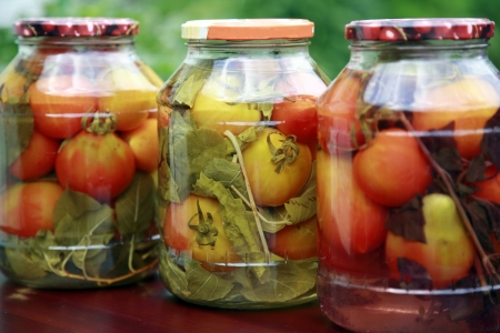 canned food: Homemade tomatoes
