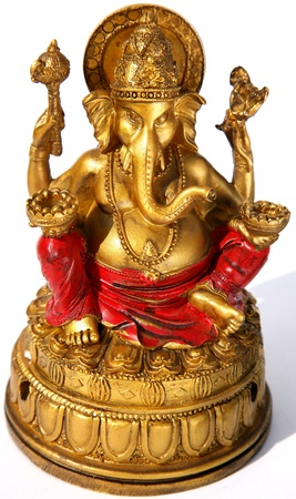 Lord Ganesh on white background in sunlight Stock Photo - 14838014