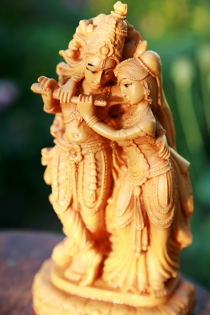 krishna: Krishna en Radha - Liefde Stockfoto