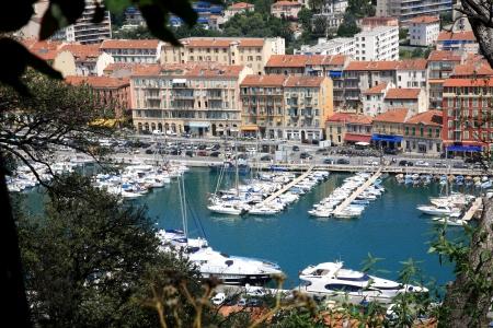 フランス ニース港の眺め 写真素材