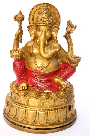 God Ganesh on white background Stock Photo - 14859732