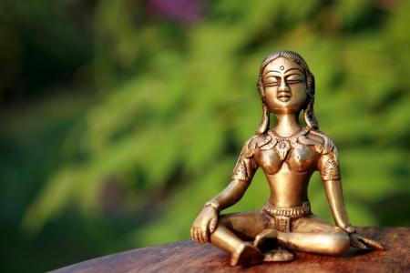 meditation symbol: Meditation at sunset Stock Photo