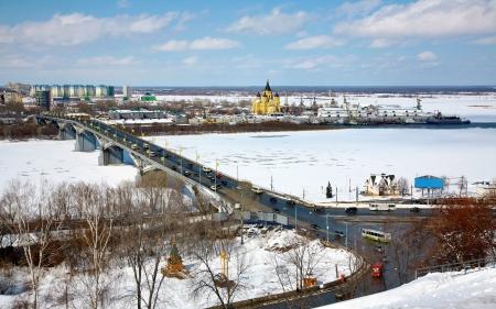 April view of Strelka Nizhny Novgorod Russia photo