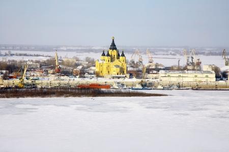 nizhny novgorod: Cathedral Alexander Nevsky in Nizhny Novgorod, Russia