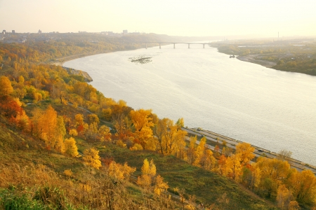 Golden autumn in Nizhny Novgorod in Russia photo