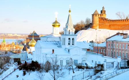 November view Church of Elijah the Prophet Nizhny Novgorod Russia photo