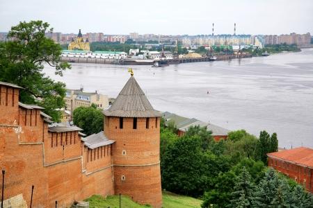 Nizhny Novgorod Kremlin and port Strelka photo