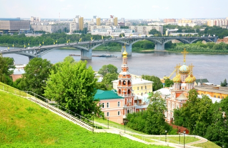 July view of Stroganov church Nizhny Novgorod Russia photo