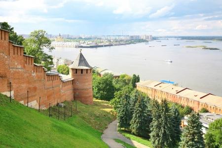 nizhny novgorod: View of Nizhny Novgorod Kremlin Russia