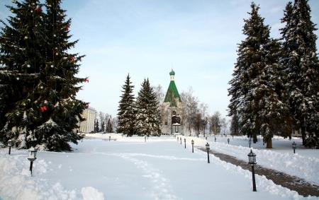 nizhny novgorod: Archangel Cathedral in Nizhny Novgorod Kremlin, Russia