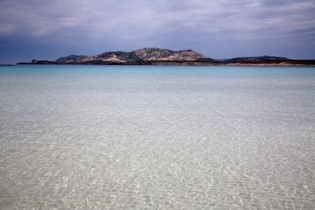 Beautiful sea in paradise beach in Sardinia in Italy photo