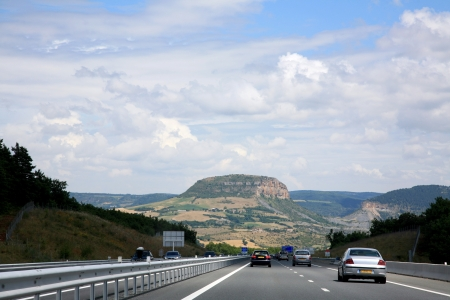 French scenic mountain road photo