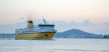 toulon: Ferry boat in Toulon, France Stock Photo