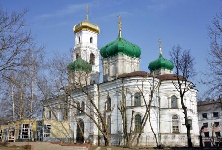 Russia. Nizhny Novgorod. Church of the Assumption on Ilyinka. Spring time. April. photo