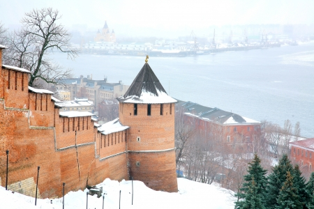 November view snow Nizhny Novgorod Kremlin Russia photo
