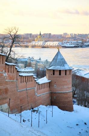November view Strelka from Nizhny Novgorod Kremlin Russia photo