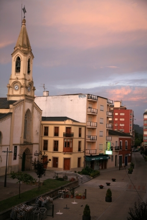 fellings: One of the city in Spain at sunrise in the summer Stock Photo