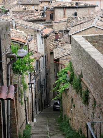 One of the street of Tuscany, Urbino, Italy photo