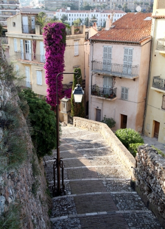 One of the streets in Cannes, France photo