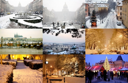 Prague in winter  photo