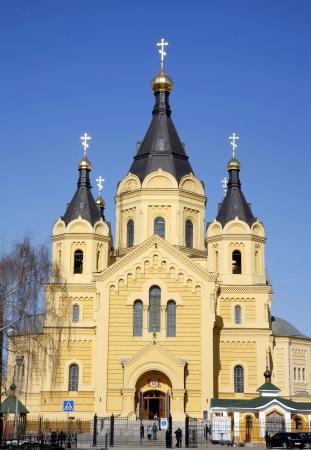 Saint Alexander Nevsky Cathedral in Nizhny Novgorod, Russia.  photo