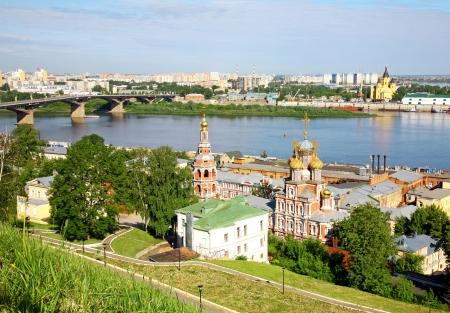 nizhny novgorod: Scenic view of summer Nizhny Novgorod, Russia Stock Photo