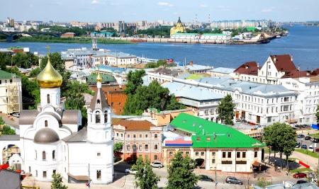 nizhny novgorod: Summer view oldest part Nizhny Novgorod Russia