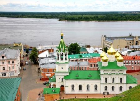 precursor: Summer view Church Nativity John Precursor Nizhny Novgorod Russia Stock Photo