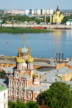 Stroganov Church and Cathedral Nevsky. Nizhny Novgorod, Russia photo