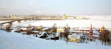 nizhny novgorod: Scenic winter view Nizhny Novgorod Russia