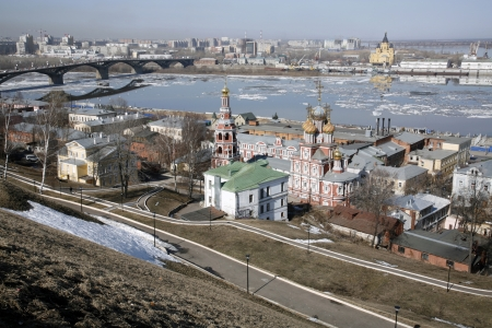 novgorod: View of Nizhny Novgorod, Russia