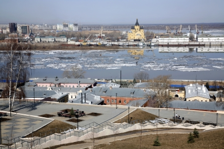 View of Nizhny Novgorod, Russia from Fedorovsky embankment  photo