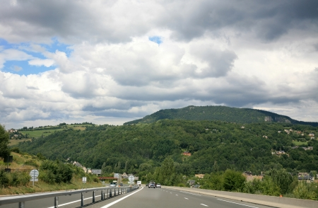 Scenic road in France in summer trip photo