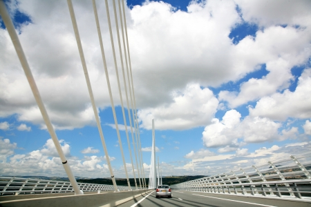 millau: The Millau Viaduct in France Stock Photo