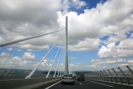 The Millau Viaduc in France photo
