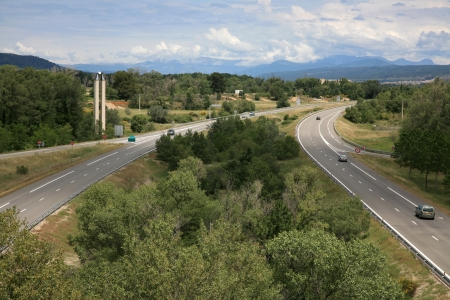 Scenic Highway in France. Travel around Europe. Summer 2008 photo