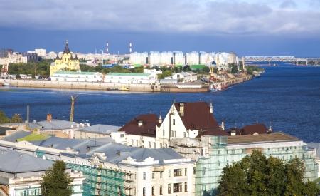 Summer morning view of Nizhny Novgorod Russia photo