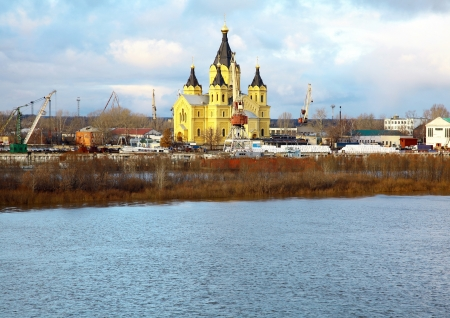 Colorful Cathedral Alexandr Nevsky Nizhny Novgorod Russia photo