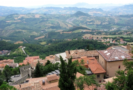 coutryside: Beautiful view of San Marino - the oldest republic in the world