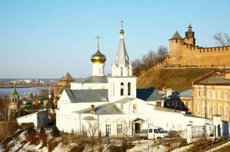 Church Elijah the Prophet and Kremlin Nizhny Novgorod Russia photo