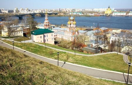 novgorod: Spring view Nuzhny Novgorod Russia