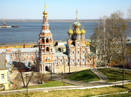 Spring view Church Nativity of Most Holy Mother God Nizhny Novgorod Russia