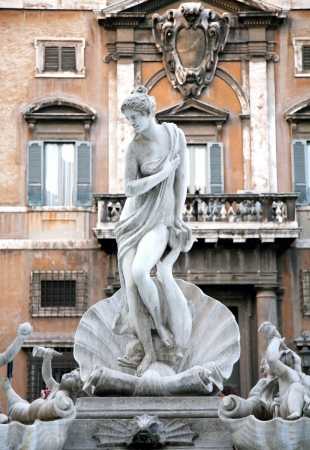 Statue birth of Venus Rome Italy Editöryel