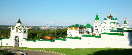 ascension: Panorama Pechersky Ascension Monastery Nizhny Novgorod Russia Stock Photo