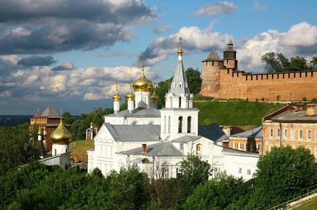 nizhny novgorod: Church and Kremlin Nizhny Novgorod Russia