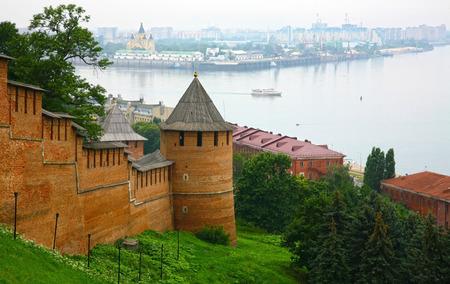 nizhny novgorod: Summer view of Kremlin Nizhny Novgorod Russia Stock Photo
