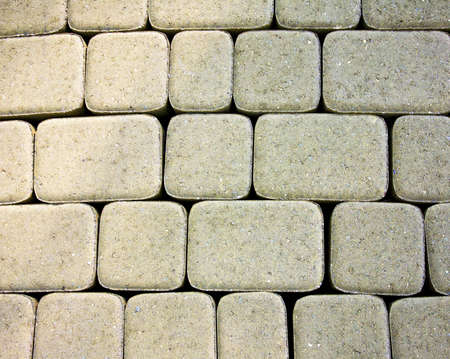 The texture of the new stone pavers for walkways in the park