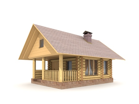 Log-Holzhaus Standard-Bild