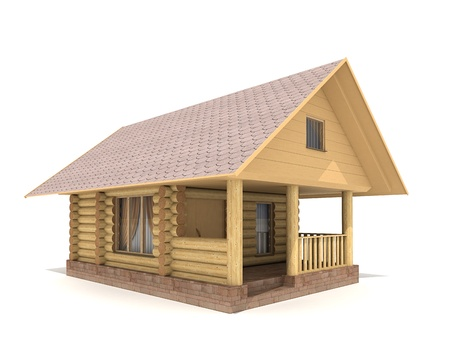 caba�a: Registro-casa de madera Foto de archivo